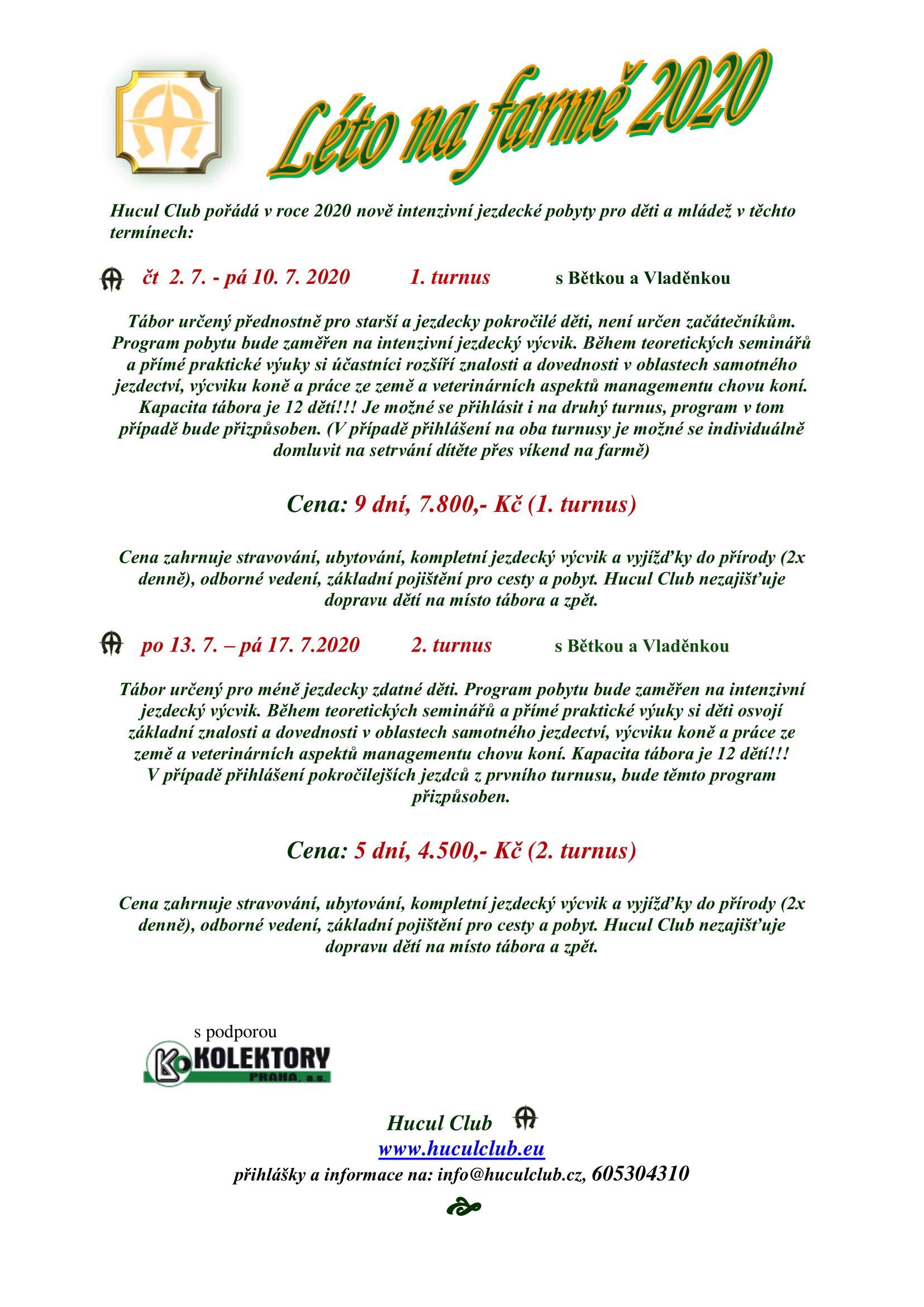 Tábor - seminář 2020-1